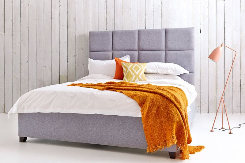 Beatrice Upholstered Panelled Bed with Storage