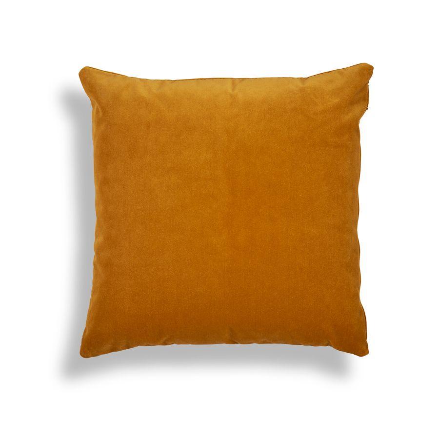 Velvet & Linen Square Scatter Cushion - Front