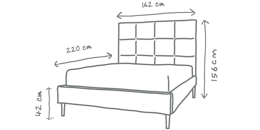 Beatrice Panelled Upholstered Bed