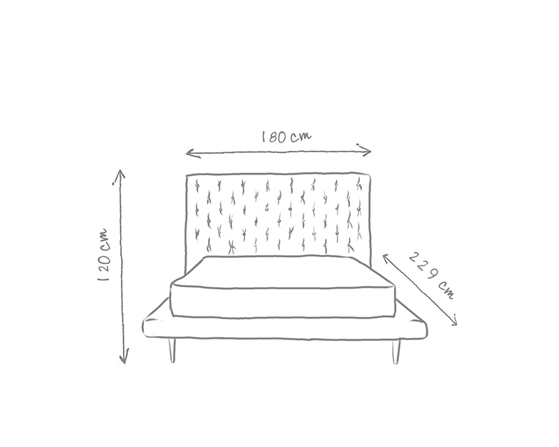 Delilah Buttoned Bed