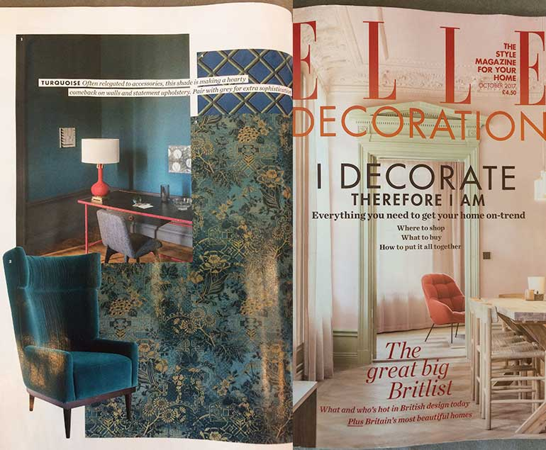 Elle Decoration features the Oscar Wingback Armchair