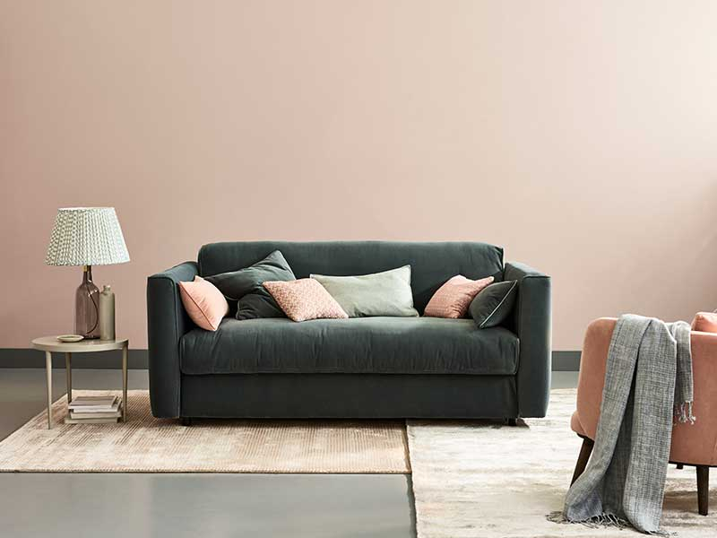 Frieda Sofa Bed in Double Velvet Marine