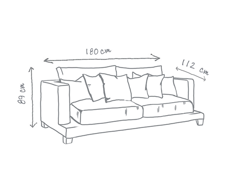 Grace Modern Deep sofa