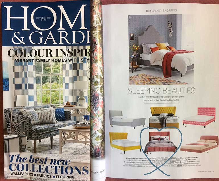 Homes & Gardens features our Alice Bed