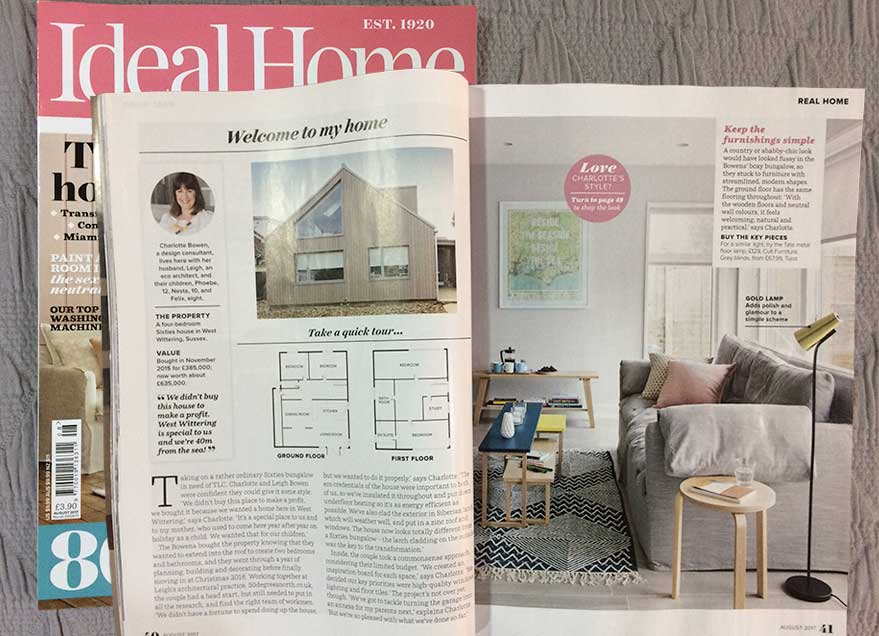 Ideal Home features the Joseph Sofa
