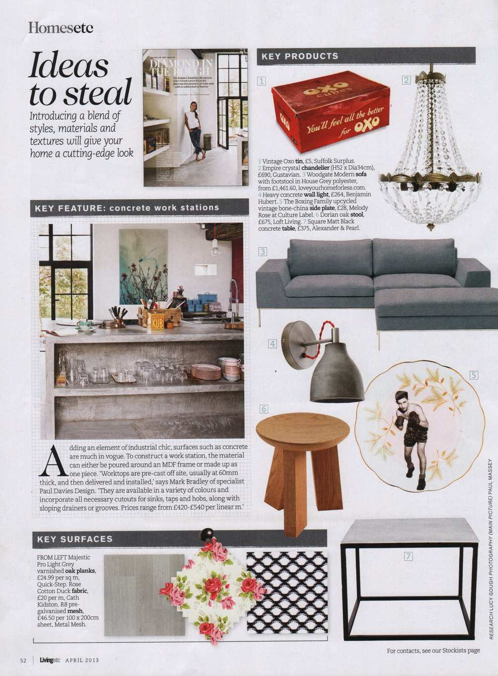 Woodgate Modern sofa with footstall featured in Livingetc magazine