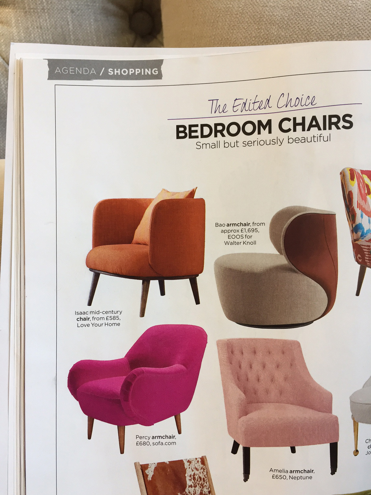 Isaac Chair in Living Etc