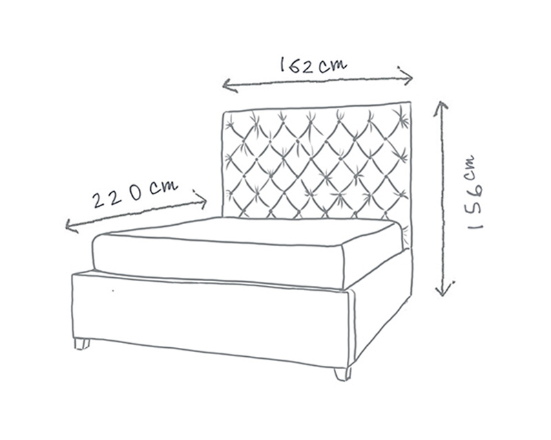 Isabella Buttoned Storage Bed