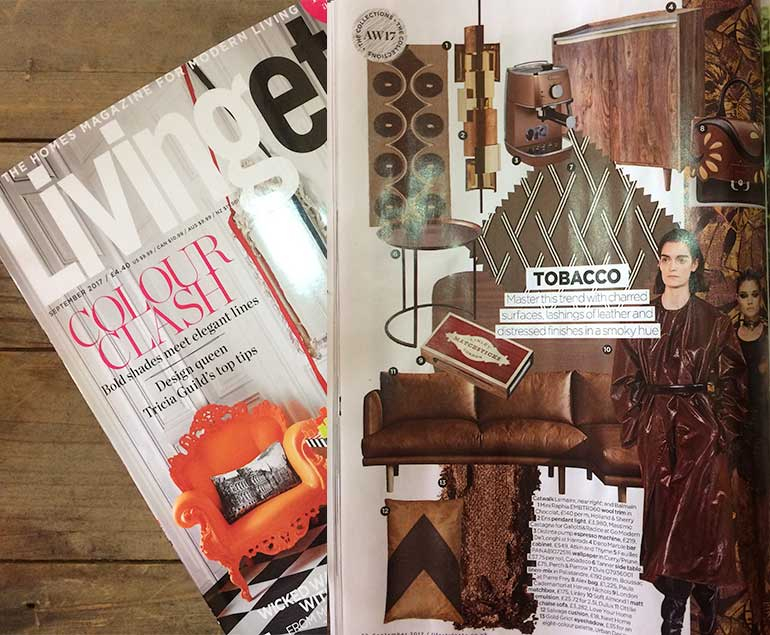 Living Etc features the Ottilie Chaise Corner Sofa