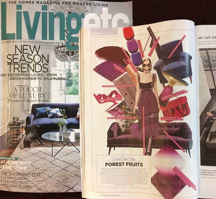 Living Etc features the Earl Grey Sofa