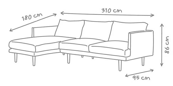 Depth of a sofa simple ikea ps hvet twoseat sofabed for Chaise 65 cm ikea