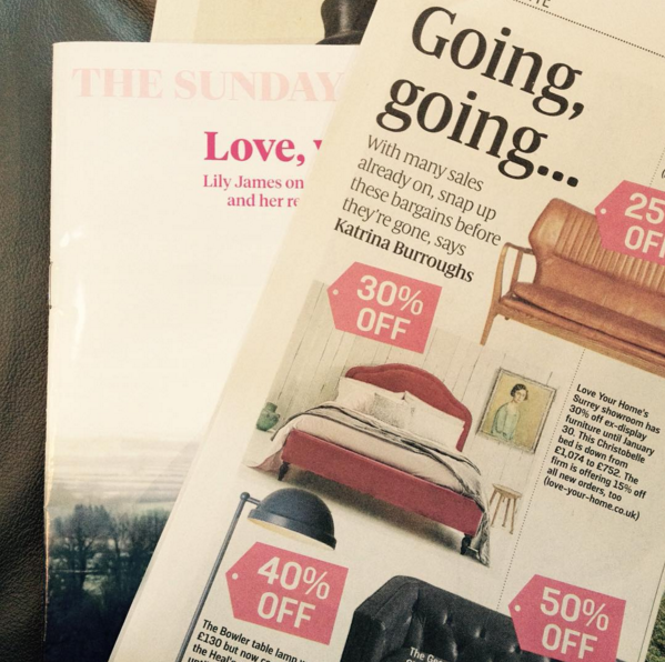 Christobelle Bed in The Sunday Times