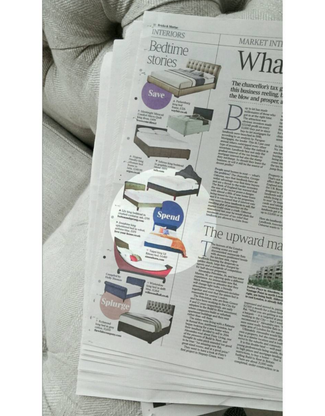 Josephine Bed Featured in The Times