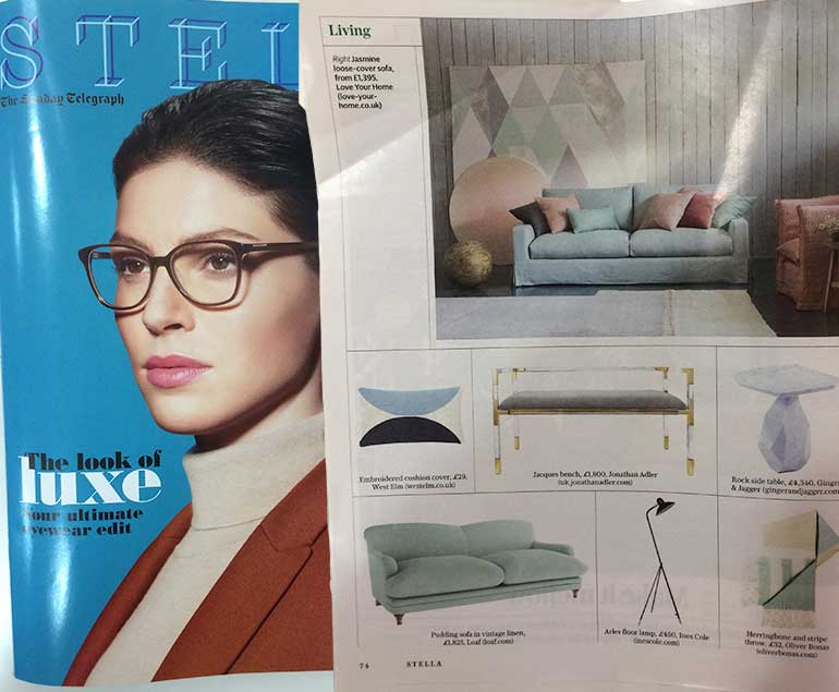 Stella Magazine features the Jasmine Sofa