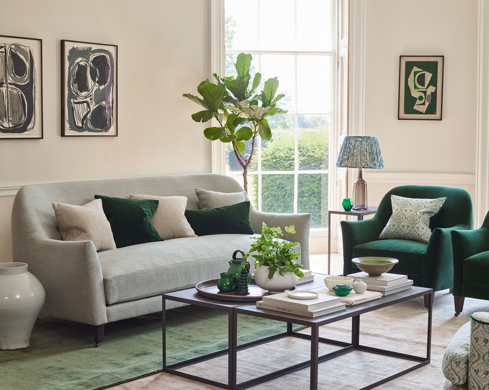 bloomsbury sofa and armchair