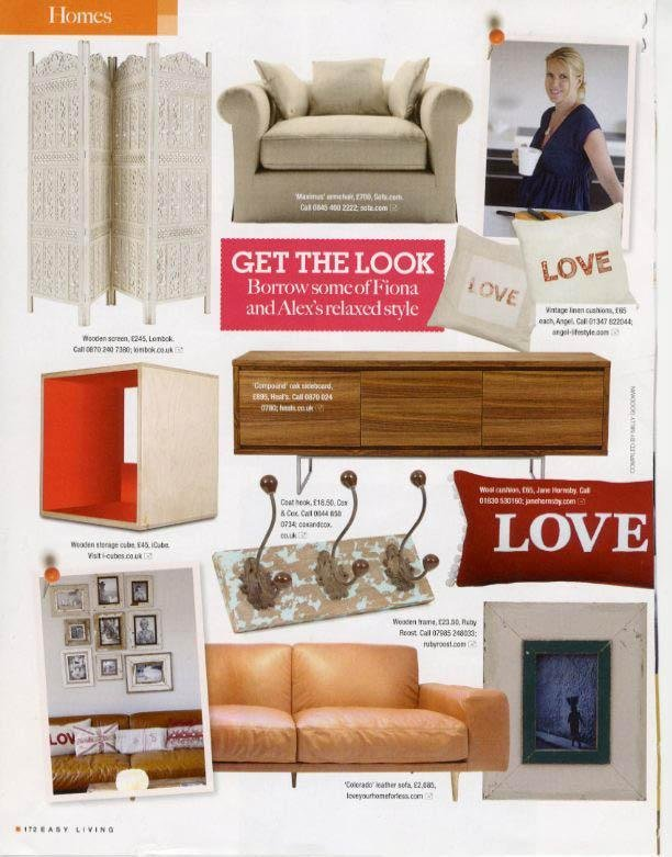 Easy Living Magazine features the Colorado Leather Sofa