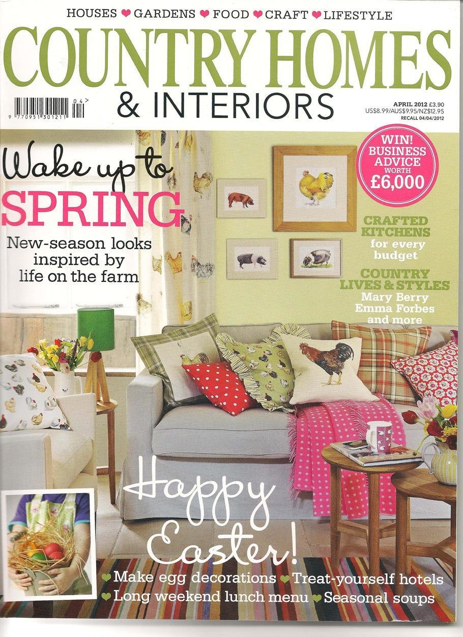 In the press our jasmine sofa is april 39 s front cover in for Home style subscription