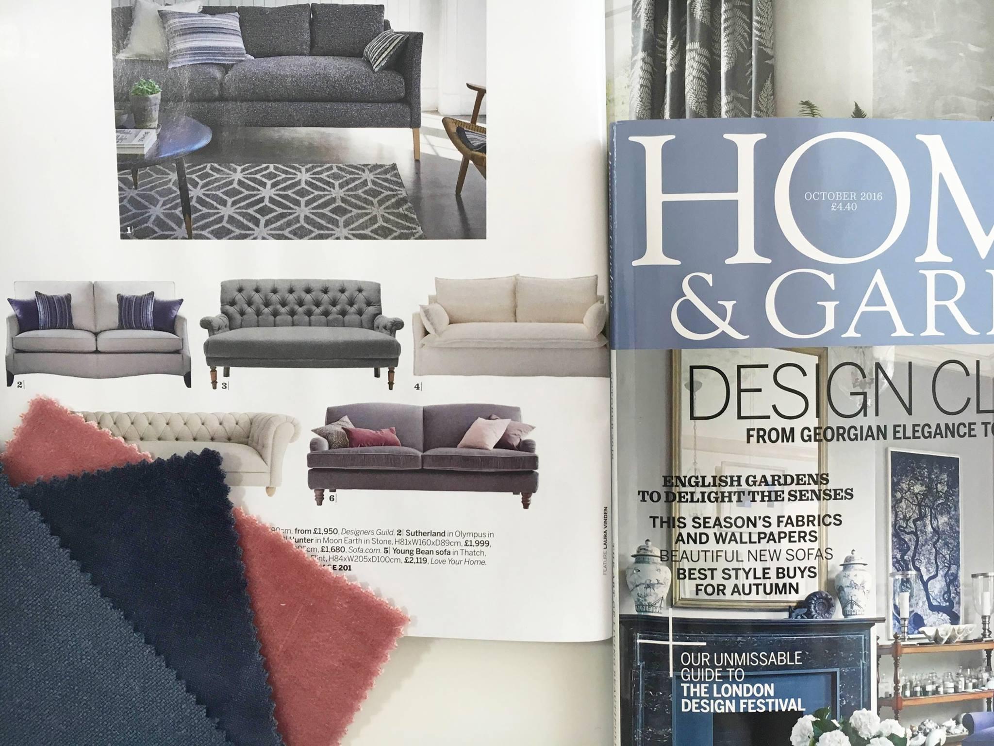 Eliza sofa in Homes&Gardens magazine