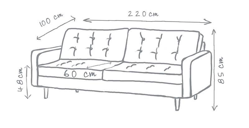 Harper Buttoned Sofa