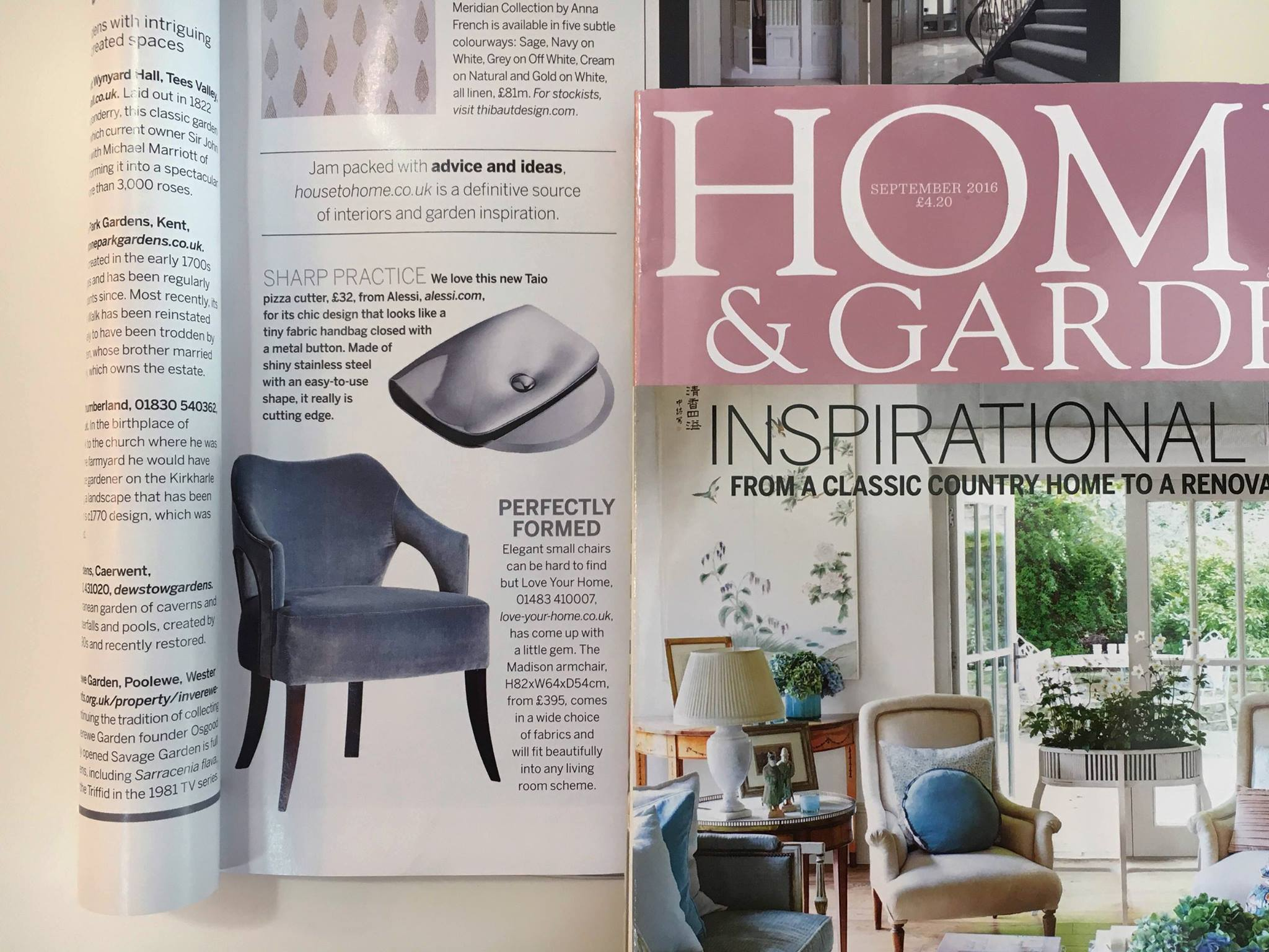 Madison Chair in Homes & Gardens