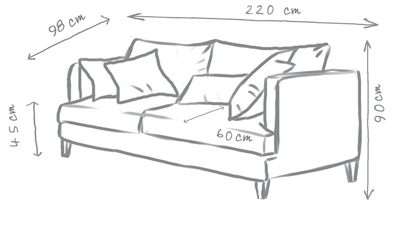 Marlon 3 Seater Modern Sofa