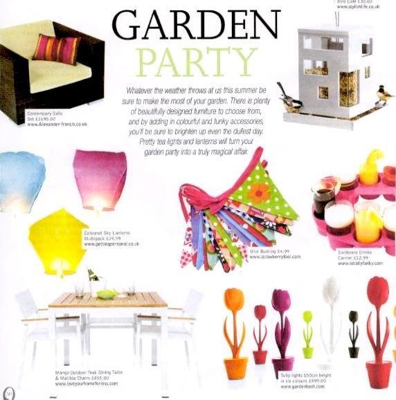 Mango Outdoor Dining Table & Matilda Chairs, looking fresh in Close-Up Magazine