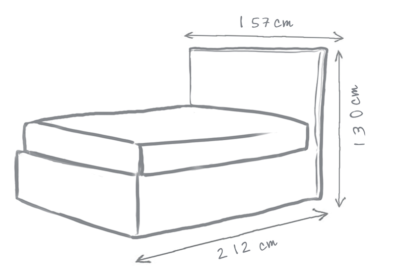 Sophie Loose Cover Storage Bed