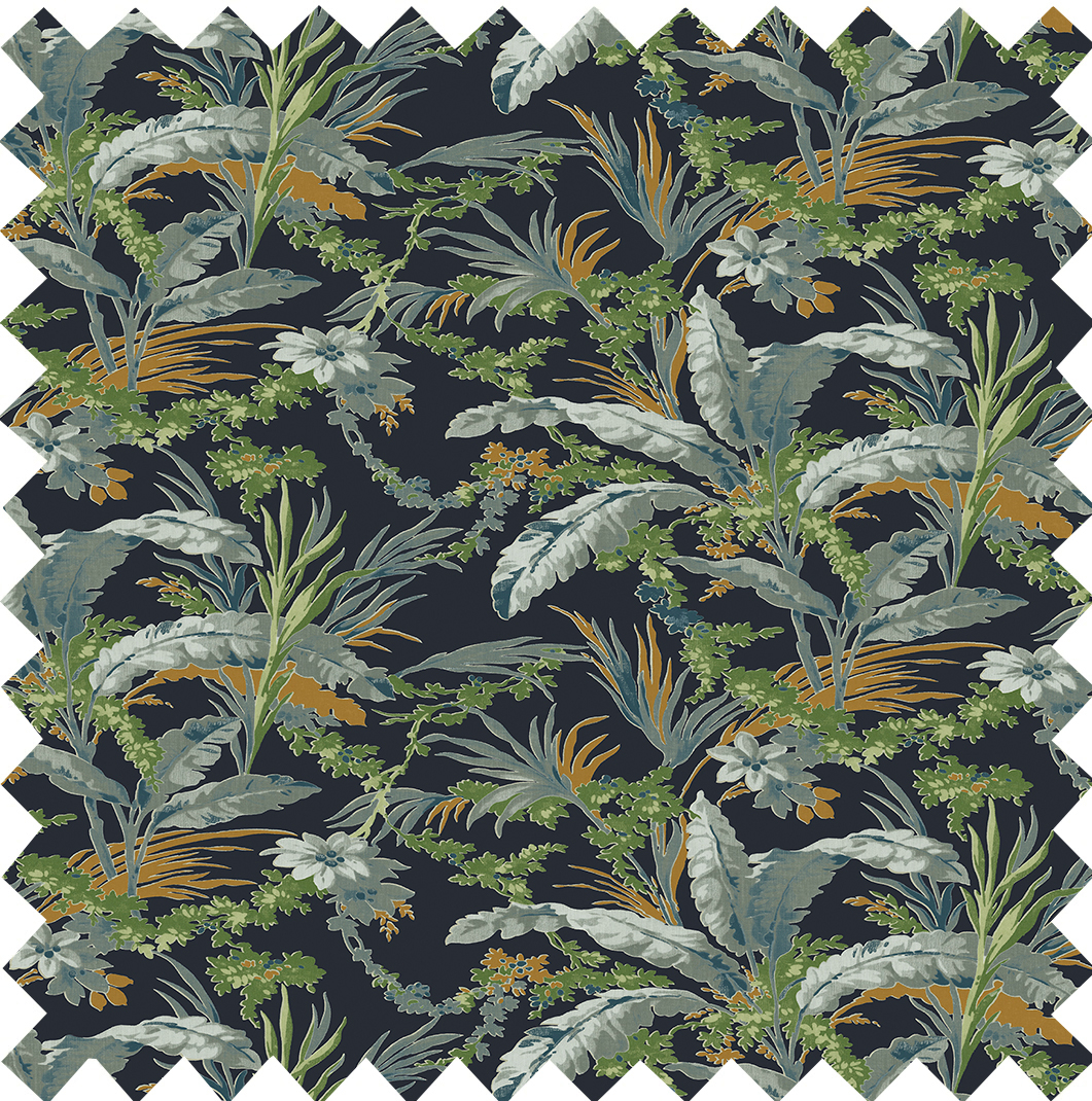 Botanical Printed Velvet Nightshade