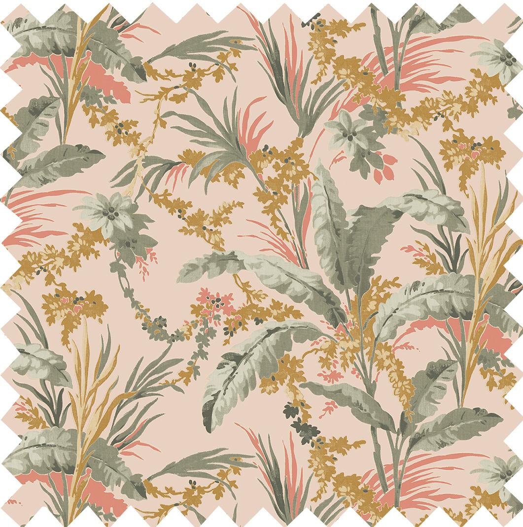 Botanical Printed Velvet Petal