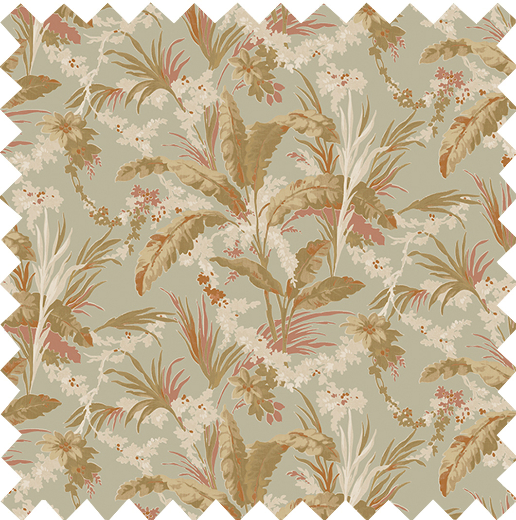 Botanical Printed Velvet Sage